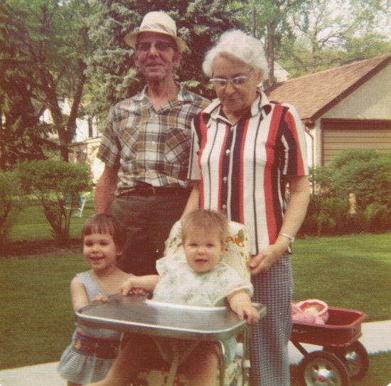 Grandpa, Grandma, Michelle, and Me