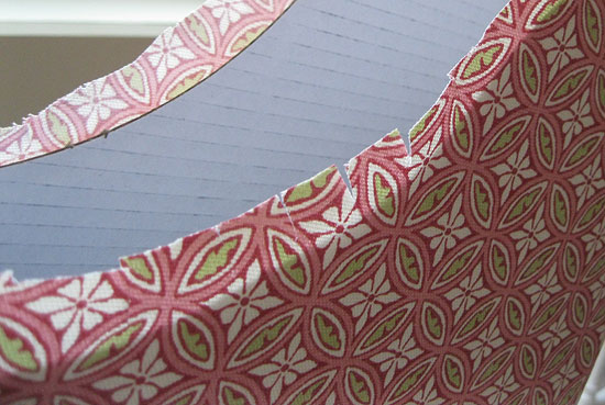 17. This image shows the clipped fabric.