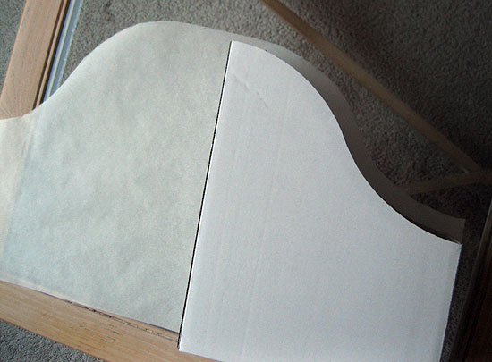 3. Trace around the magazine file on a long sheet of paper (I used parchment paper from the roll).  Add an additional inch to all sides.  Cut out to form your pattern.