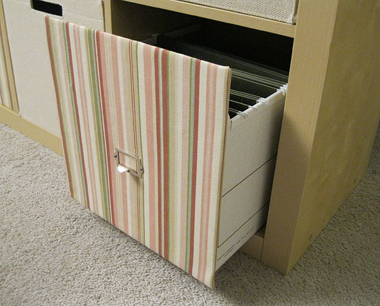 Blog archive file drawers for your expedit for Fabric drawers ikea expedit